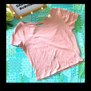 Bozzolo Womens Pink Button Short Sleeve Crop Top